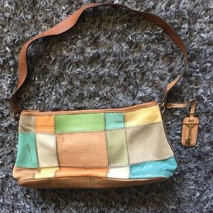 Fossil purse, leather, small, multicolor